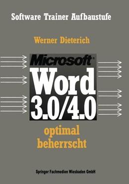 Abbildung von Dieterich | Word 3.0/4.0 optimal beherrscht | 2014