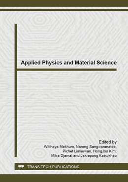 Abbildung von Mekhum / Sangwaranatee / Limsuwan / Kim / Djamal / Kaewkhao | Applied Physics and Material Science | 2014 | Selected, peer reviewed papers... | Volume 979