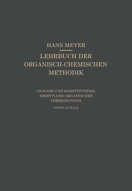 Abbildung von Meyer | Analyse und Konstitutionsermittlung Organischer Verbindungen | 1922