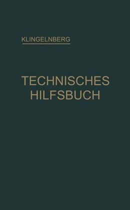 Abbildung von Preger / Reindl | Klingelnberg Technisches Hilfsbuch | 1939