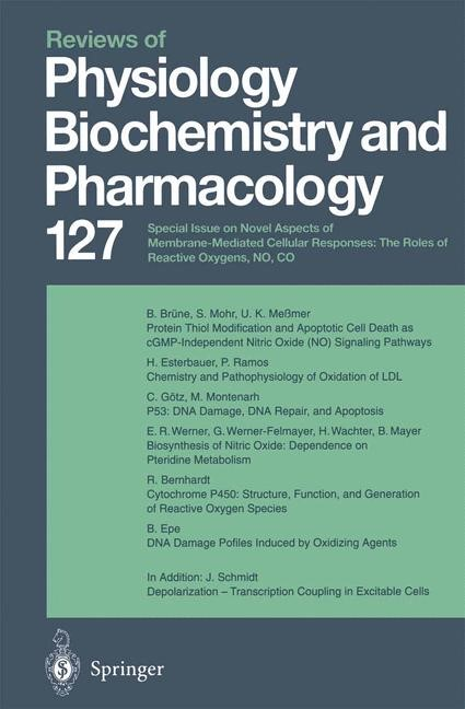 Reviews of Physiology, Biochemistry and Pharmacology, 2014 | Buch (Cover)