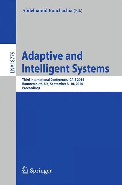 Adaptive and Intelligent Systems | Bouchachia, 2014 | Buch (Cover)