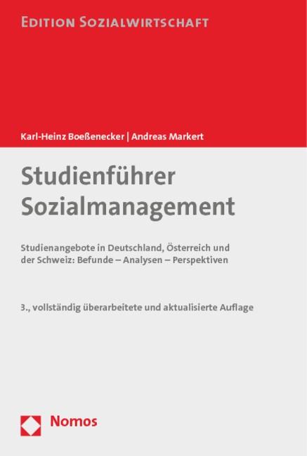 Abbildung von Boeßenecker / Markert | Studienführer Sozialmanagement | 3., vollständig überarbeitete und aktualisierte Auflage | 2014
