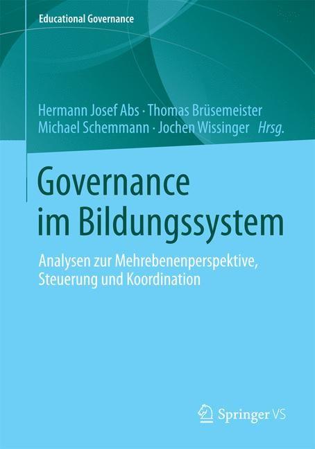 Abbildung von Abs / Brüsemeister / Schemmann / Wissinger | Governance im Bildungssystem | 2014
