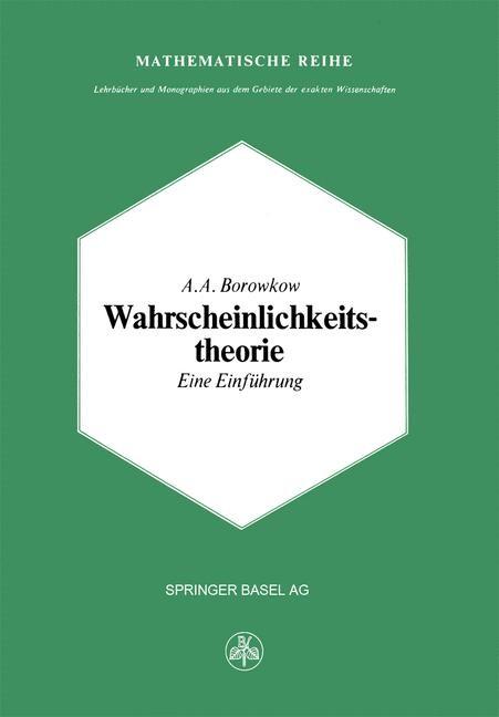 Wahrscheinlichkeitstheorie | Borowkow, 2014 | Buch (Cover)