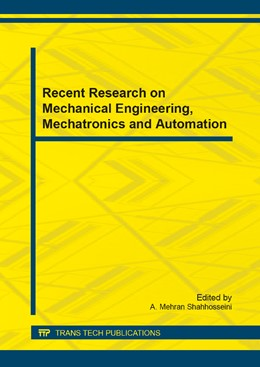 Abbildung von Shahhosseini | Recent Research on Mechanical Engineering, Mechatronics and Automation | 1. Auflage | 2014 | Volume 574 | beck-shop.de