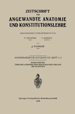 Abbildung von Krieger | Über die Atrophie der Menschlichen Organe bei Inanition | 1920