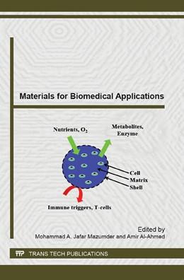 Abbildung von Mazumder / Al-Ahmed | Materials for Biomedical Applications | 2014 | Special topic volume with invi... | Volume 995