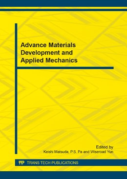 Abbildung von Matsuda / Pa / Yun | Advance Materials Development and Applied Mechanics | 2014 | Selected, peer reviewed papers... | Volume 597