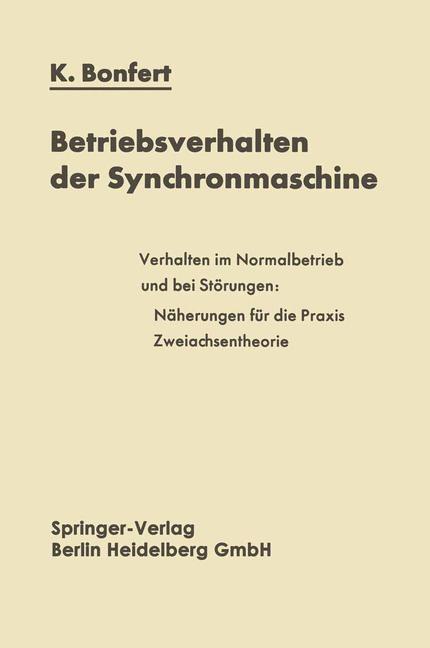 Abbildung von Bonfert | Betriebsverhalten der Synchronmaschine | 2014