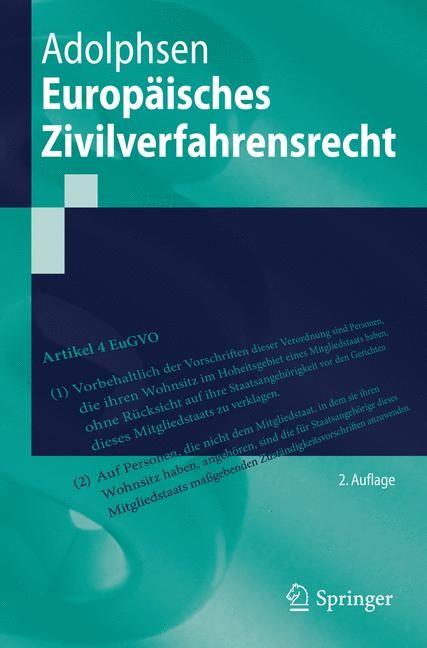 Abbildung von Adolphsen | Europäisches Zivilverfahrensrecht | 2. Auflage | 2015