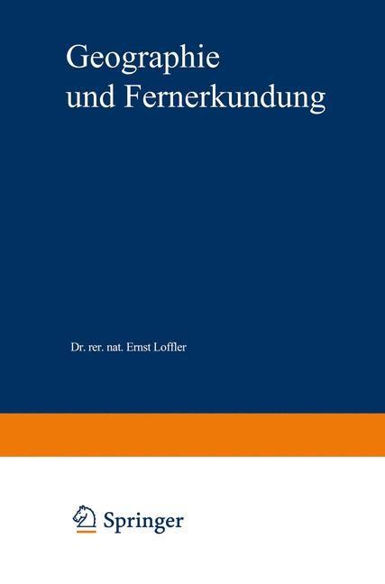 Geographie und Fernerkundung | Löffler, 1985 | Buch (Cover)