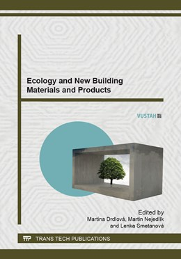 Abbildung von Drdlov? / Nejedl?k / Smetanova   Ecology and New Building Materials and Products   2014   Selected, peer reviewed papers...   Volume 1000