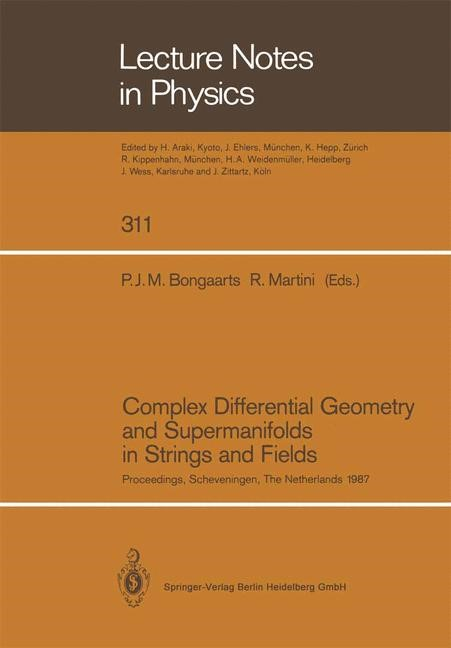 Complex Differential Geometry and Supermanifolds in Strings and Fields | Bongaarts / Martini, 2014 | Buch (Cover)