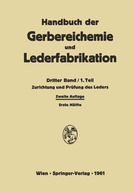 Abbildung von Ackermann / Brill / Diekmann   Zurichtung und Prüfung des Leders   2014