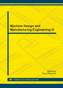Abbildung von Wei | Machine Design and Manufacturing Engineering III | 2014 | Selected, peer reviewed papers... | Volume 607
