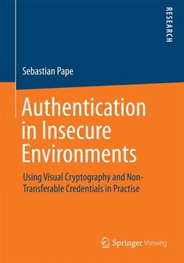Abbildung von Pape | Authentication in Insecure Environments | 1. Auflage | 2014 | beck-shop.de