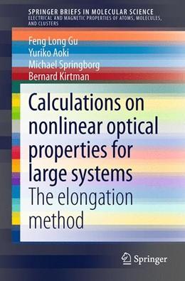 Abbildung von Gu / Aoki | Calculations on nonlinear optical properties for large systems | 1. Auflage | 2014 | beck-shop.de