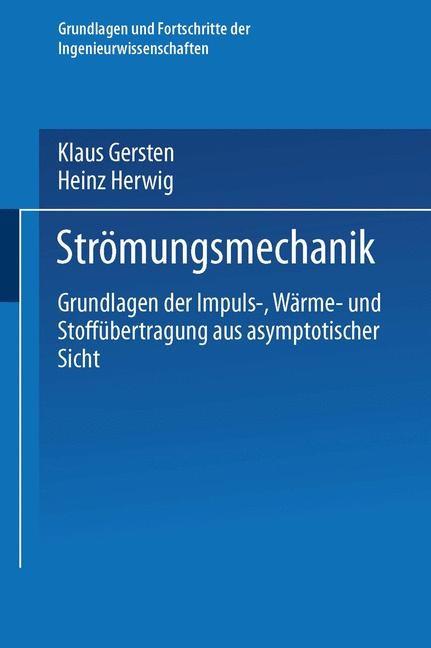 Abbildung von Gersten / Herwig | Strömungsmechanik | 2014