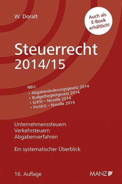 Abbildung von Doralt | Steuerrecht 2014/15 | 16., Auflage 2014 | 2014