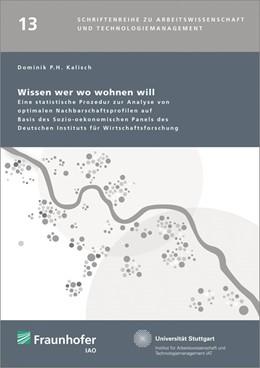 Abbildung von / Spath / Bullinger | Wissen wer wo wohnen will. | 2014 | Eine statistische Prozedur zur... | 13