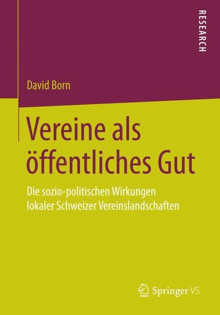 Vereine als öffentliches Gut | Born, 2014 | Buch (Cover)