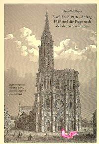 Abbildung von Beyer   Elsass Ende 1918 - Anfang 1919 und die Frage nach der deutschen Kultur   1994