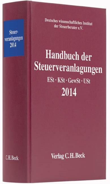 Handbuch der Steuerveranlagungen 2014, 2015 | Buch (Cover)