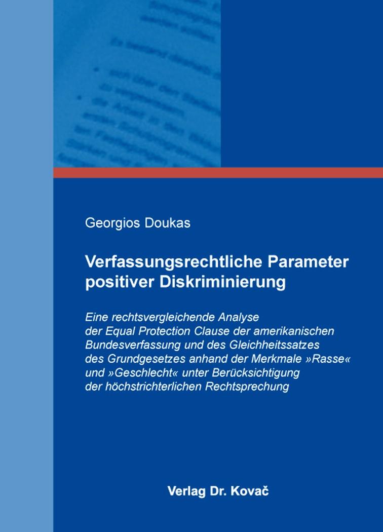 Abbildung von Doukas | Verfassungsrechtliche Parameter positiver Diskriminierung | 2014