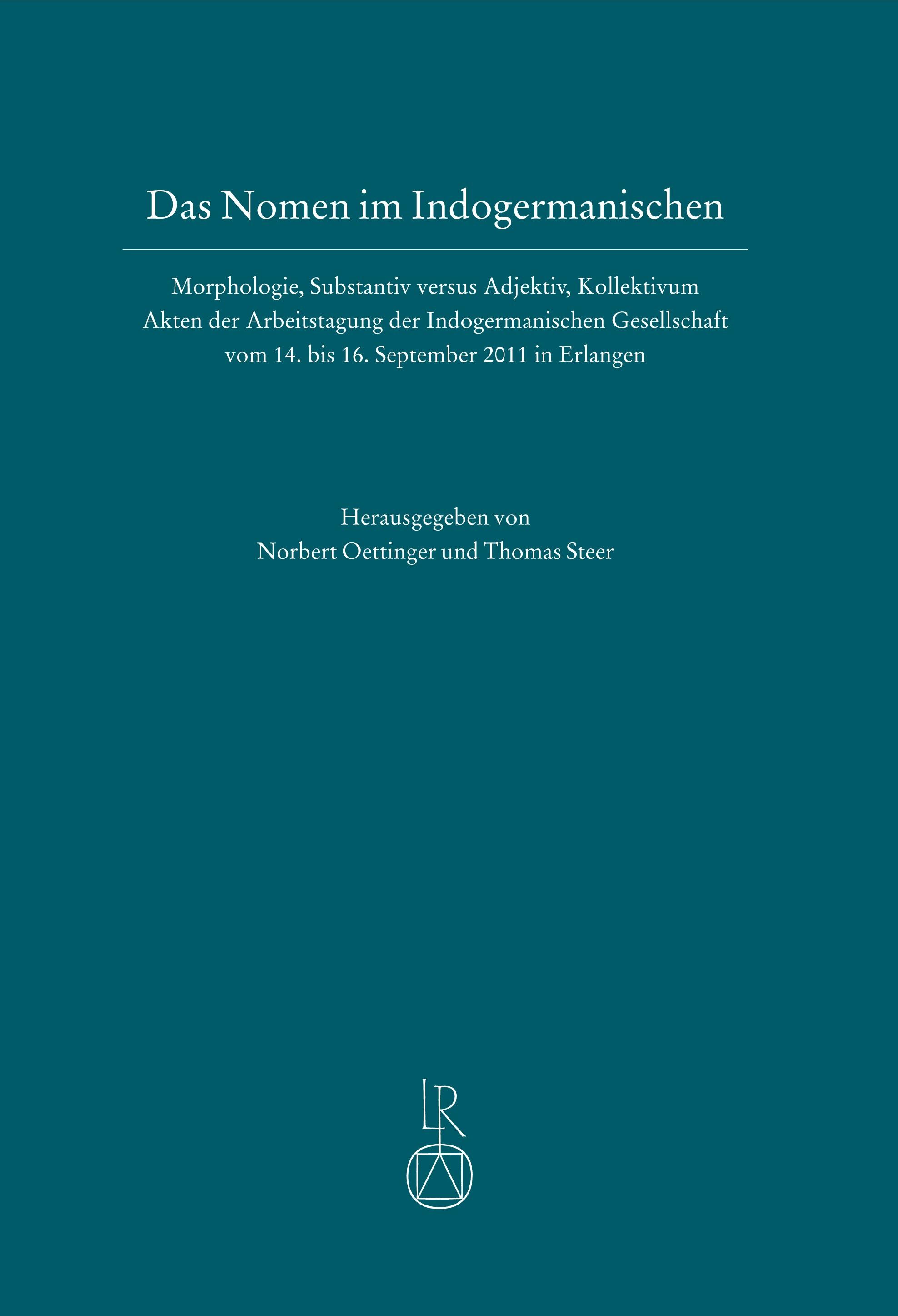 Das Nomen im Indogermanischen | Oettinger / Steer, 2014 | Buch (Cover)