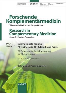Abbildung von Meier / Saller / Walkenhorst | Internationale Tagung Phytotherapie 2014, Klinik und Praxis | 2014 | 29. Schweizerische Jahrestagun...