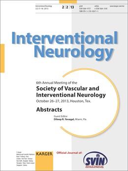 Abbildung von Yavagal   Society of Vascular and Interventional Neurology   2014   6th Annual Meeting, Houston, T...