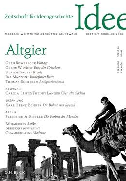Abbildung von Zeitschrift für Ideengeschichte Heft X/1 Frühjahr 2016 | 2016 | Altgier