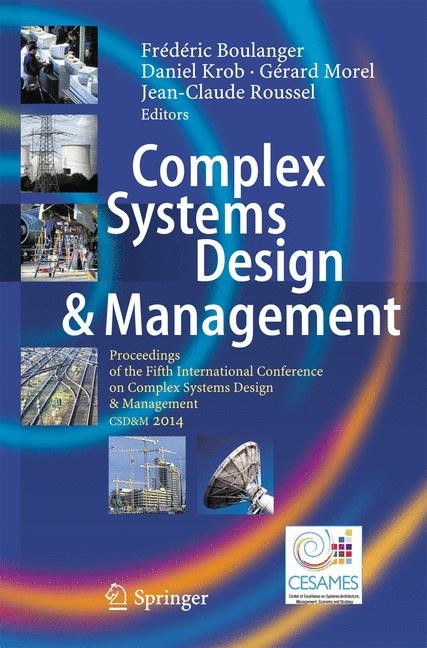 Complex Systems Design & Management | Boulanger / Krob / Morel / Roussel, 2014 | Buch (Cover)