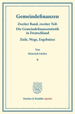 Abbildung von Lücker   Gemeindefinanzen.   1. Auflage   2014   beck-shop.de