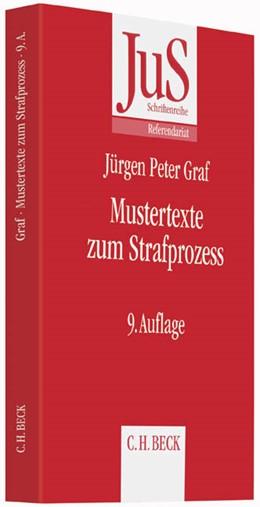 Abbildung von Graf | Mustertexte zum Strafprozess | 9. Auflage | 2015 | Band 25