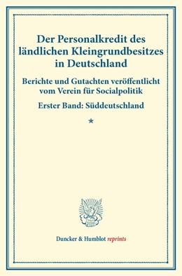 Abbildung von Der Personalkredit des ländlichen Kleingrundbesitzes in Deutschland | 1. Auflage | 2014 | beck-shop.de