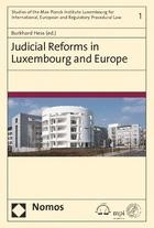 Judicial Reforms in Luxembourg and Europe   Hess (Hrsg.), 2019   Buch (Cover)