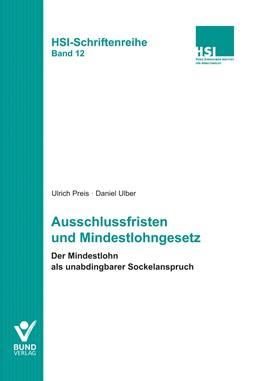 Abbildung von Preis / Ulber | Ausschlussfristen und Mindestlohngesetz | 2014 | 12