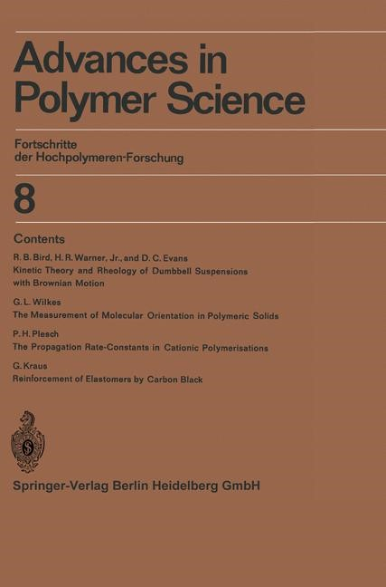 Advances in Polymer Science | Cantow / Dall'Asta / Ferry, 2014 | Buch (Cover)