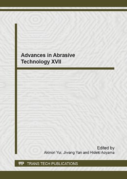 Abbildung von Yui / Yan / Aoyama | Advances in Abrasive Technology XVII | 2014 | Selected, peer reviewed papers... | Volume 1017
