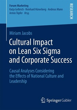 Abbildung von Jacobs | Cultural Impact on Lean Six Sigma and Corporate Success | 1. Auflage | 2014 | beck-shop.de