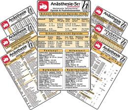 Abbildung von Hawelka Verlag | Anästhesie Karten-Set -professional- ( 7er-Set ) - Medizinische Taschen-Karte | 1. Auflage | 2014 | beck-shop.de