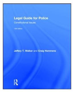 Abbildung von Walker / Hemmens   Legal Guide for Police   10. Auflage   2015   beck-shop.de