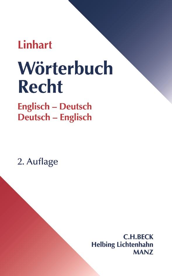 Wörterbuch Recht | Linhart | 2. Auflage, 2017 | Buch (Cover)