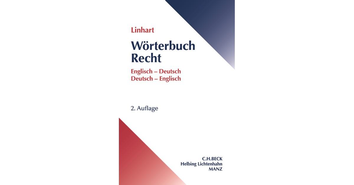 wrterbuch recht linhart 2 auflage 2017 buch beck shopde - Lebenslauf Englisch Bersetzung