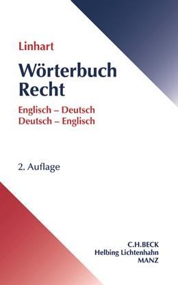 Abbildung von Linhart | Wörterbuch Recht | 2. Auflage | 2017 | beck-shop.de