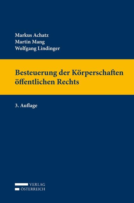 Besteuerung der Körperschaften öffentlichen Rechts | Achatz / Mang / Lindinger, 2014 | Buch (Cover)