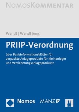 Abbildung von Wendt / Wendt (Hrsg.) | PRIIP-Verordnung | 2020 | über Basisinformationsblätter ...