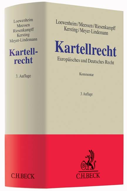 Kartellrecht | Loewenheim / Meessen / Riesenkampff / Kersting / Meyer-Lindemann | 3. Auflage, 2016 | Buch (Cover)